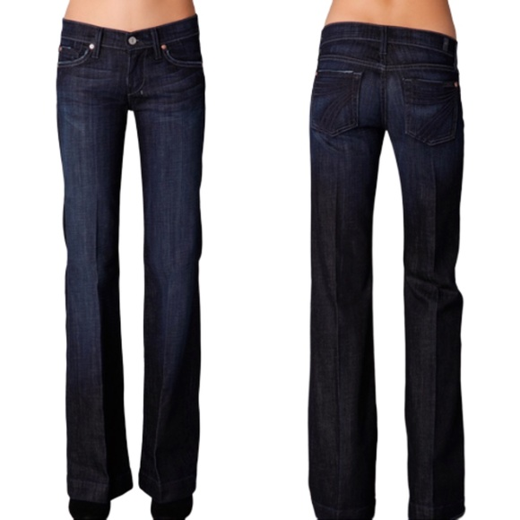 7 For All Mankind Denim - 7 For All Mankind Dojo Jean Low Rise Flare Size 25